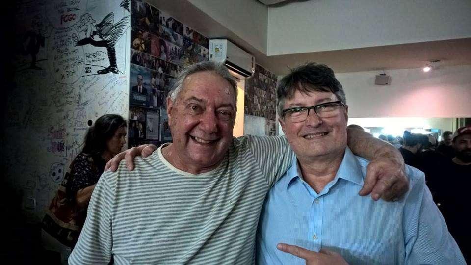 Com o grande batera e maravilhosa pessoa, em gravação da Cor do Som, em 15/8/18, no Solar de Botafogo, para especial da Rádio Antena 1. Mr. Gustavo Schroeter